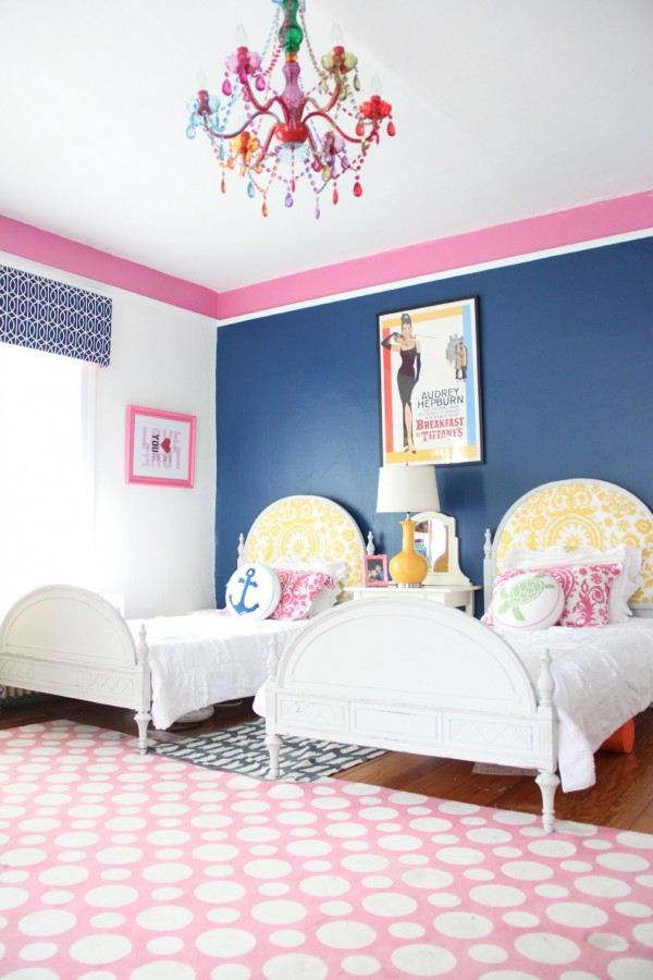 "PHOEBE'S ROOM - Photo taken by John Petersik of Young House Love for our HOUSE CRASH and published in the book ""DECORATE FEARLESSLY"" by Susanna Salk."