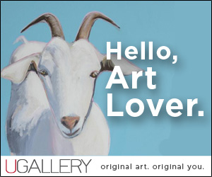 UGallery used my painting for an AD!!!