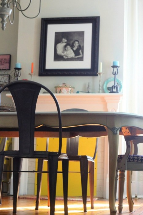 CRATE AND BARREL GALVANIZED DINING ROOM CHAIRS