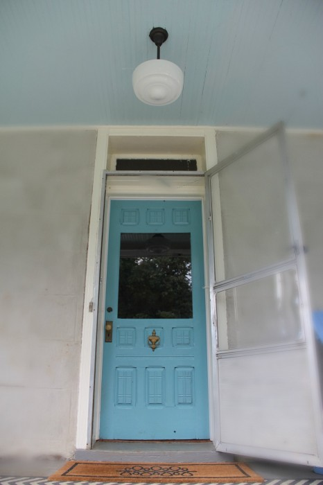 Monday Makeover New Majestic Blue Front Door