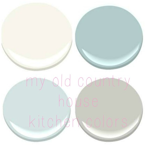 BENJAMIN MOORE: MOUNTAIN PEAK WHITE, GOSSAMER BLUE, STONINGTON GRAY, OCEAN AIR