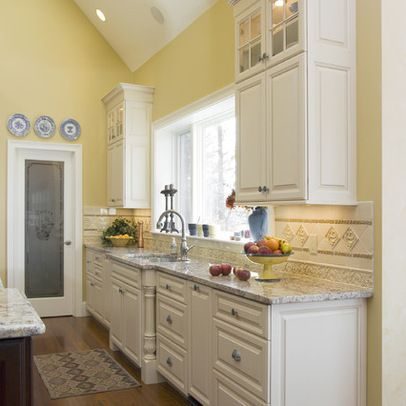 Creamy Tan White Color Paint For Kitchen