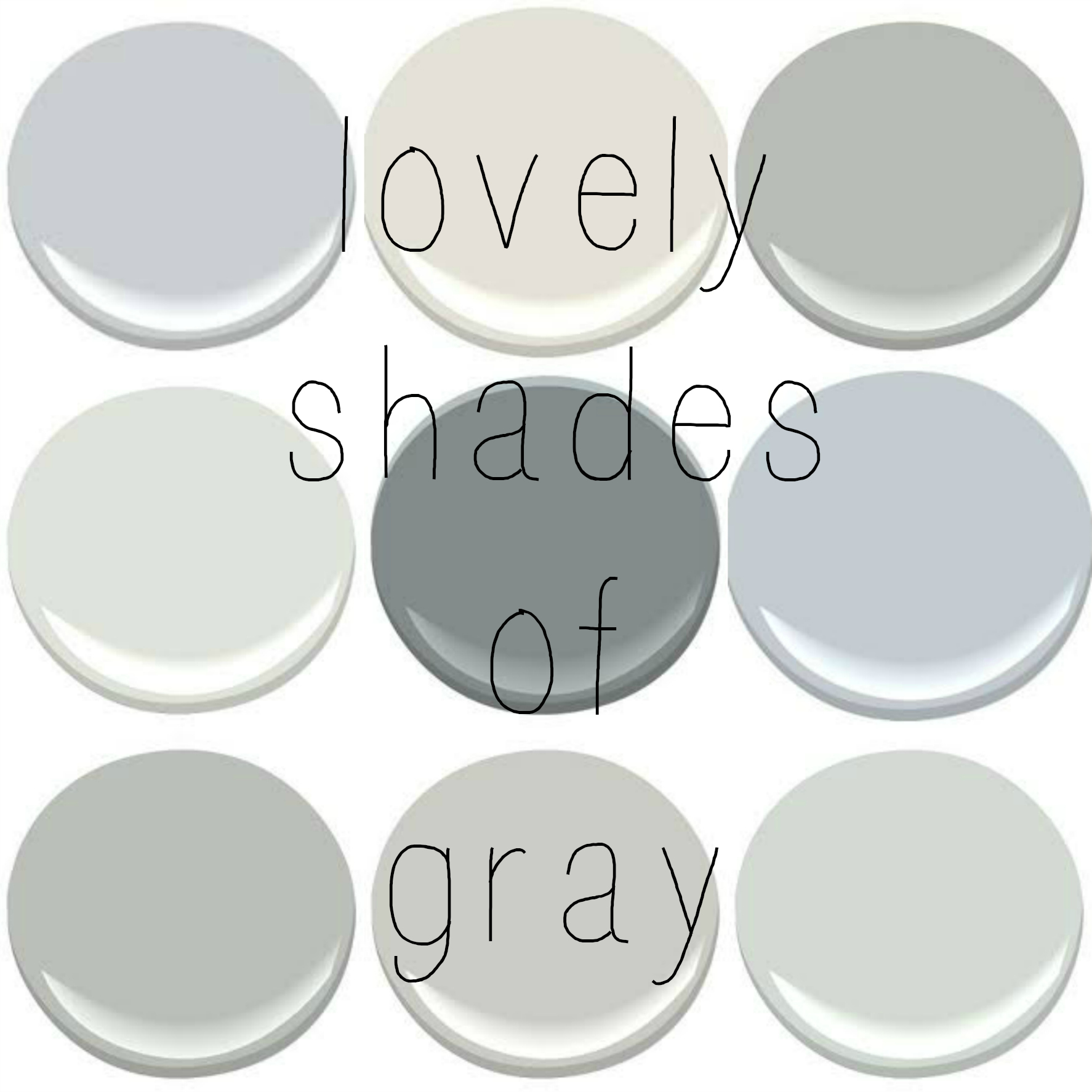 FAVORITE SHADES OF GRAY –
