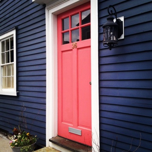 The year of navy blue and snow - Front door colors for blue house ...