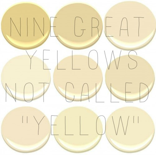The 10 most popular benjamin moore yellows concord ivory desert tan