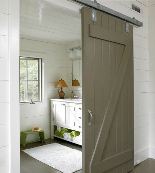 desire to inspire BARN DOOR ON A BATHHROOM