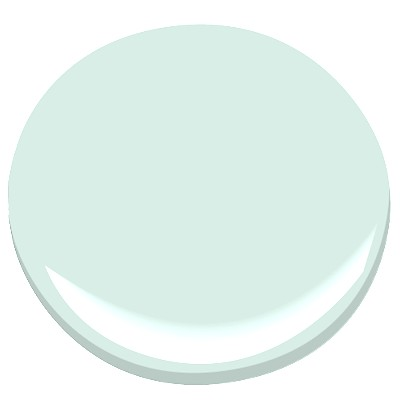 Loving Spring Mint: very light mint green paint