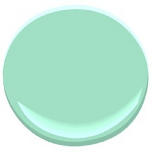 Loving spring mint my old country house Benjamin moore country green