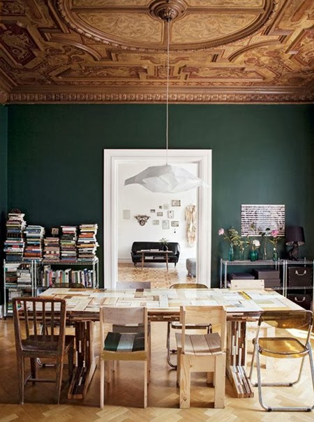 Going green part ii neutral greens for Green dining room