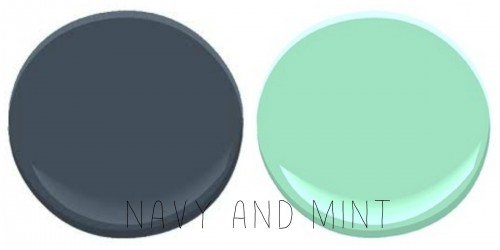 BENJAMIN MOORE HALE NAME AND MINT GREEN