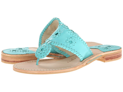 JACK ROGERS NANTUCKET CARIBBEAN BLUE - CUTE BUT NOT ENOUGH CUSHION FOR LONG WALKING DAYS