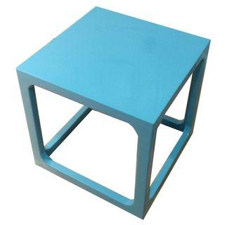 Jonathan Adler Robin Blue Lacquered Cube Table
