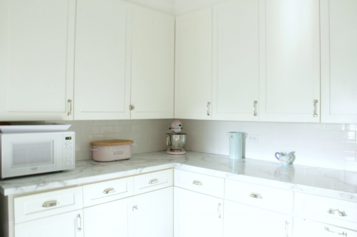 Monday makeover – formica 180x calacatta marble counter tops ...