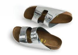 J CREW METALLIC ARIZONA BIRKENSTOCK SANDALS