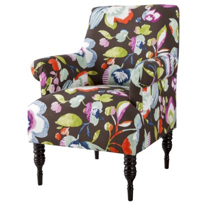 Candace Upholstered Arm Chair - Multicolored Floral