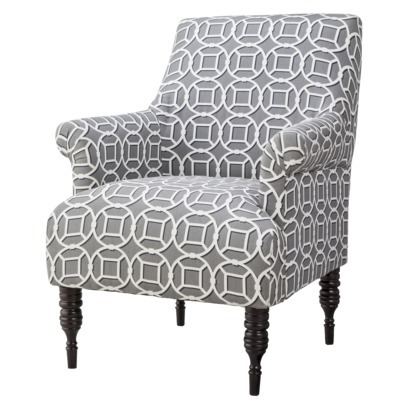 on sale now! $135 Candace Upholstered Arm Chair - Gray Circle Lattice