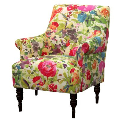 CANDACE UPHOLSTERED ARM CHAIR IMPRESION GARDEN