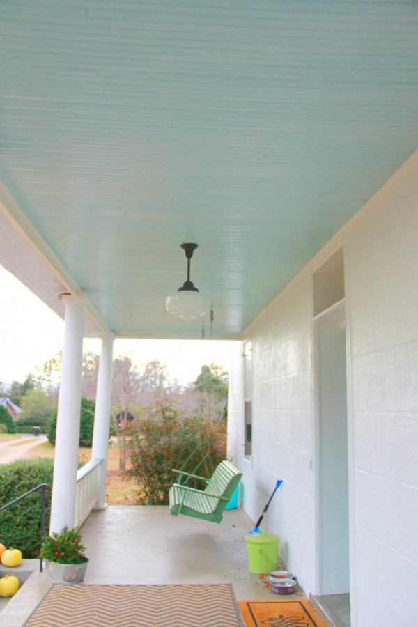 Monday Makeover Haint Porch Ceiling Blue My Old