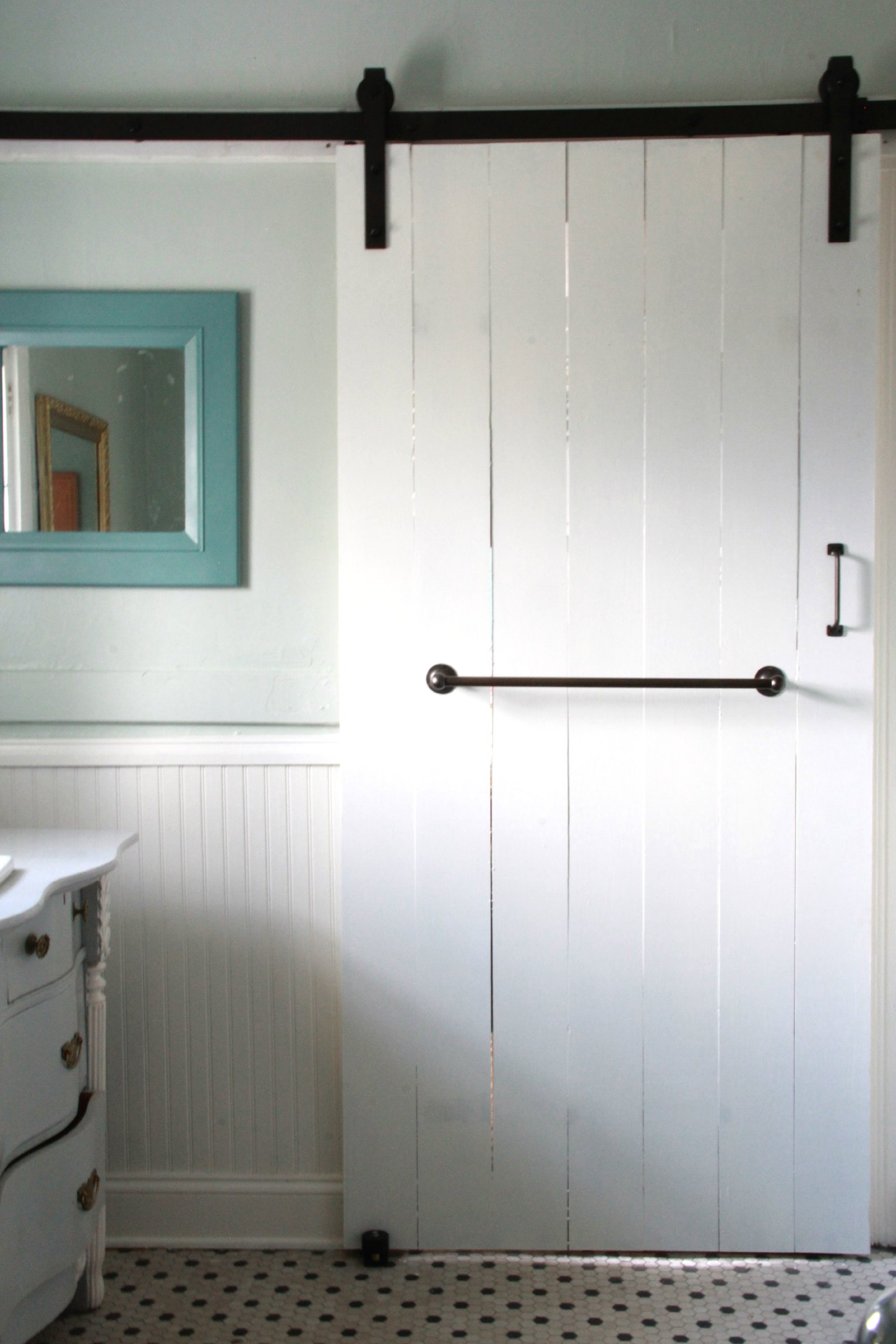 Monday Makeover New Master Bathroom Sliding Barn Door