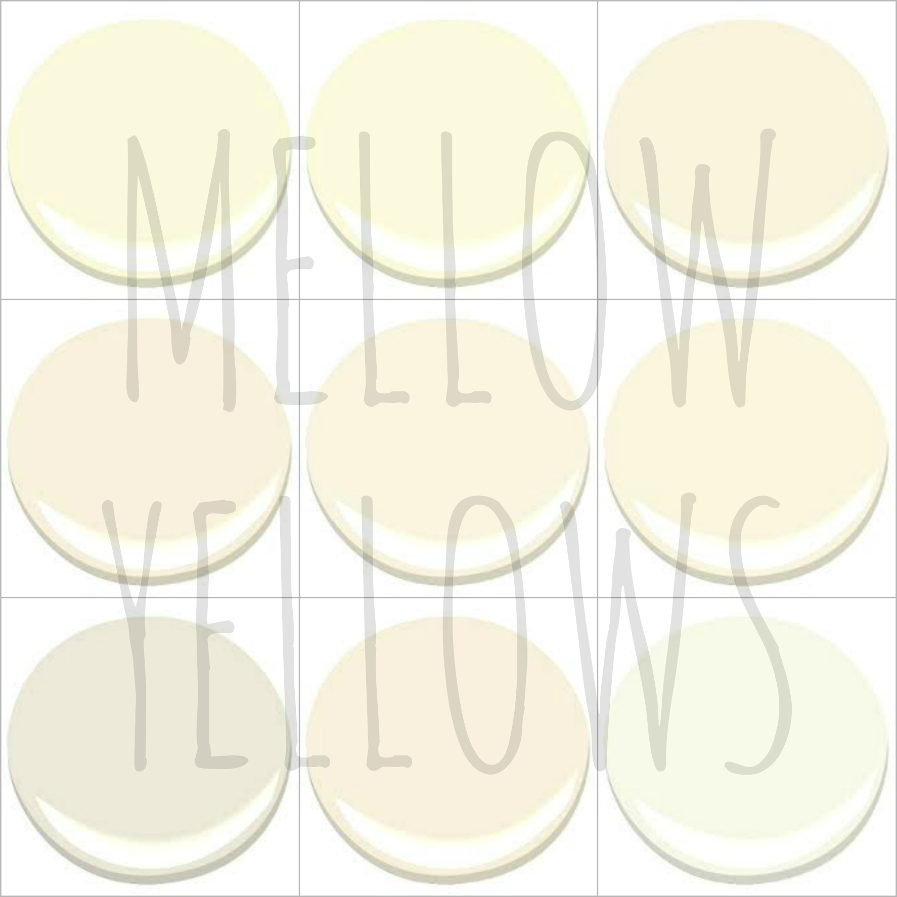 color talk mellow yellows - Benjamin Moore Creme Brulee