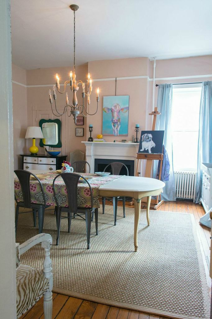 monday makeover dining room farrow and ball pink ground. Black Bedroom Furniture Sets. Home Design Ideas