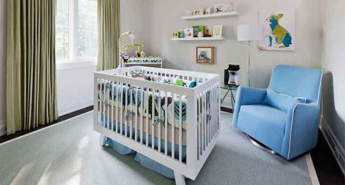 CLOUD COVER IN A NURSERY- HOUSE AND HOME MAGAZINE
