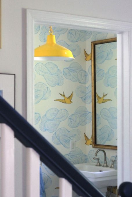 SUNSHINE IN A POWDER ROOM - STYLE BY EMILY HENDERSON