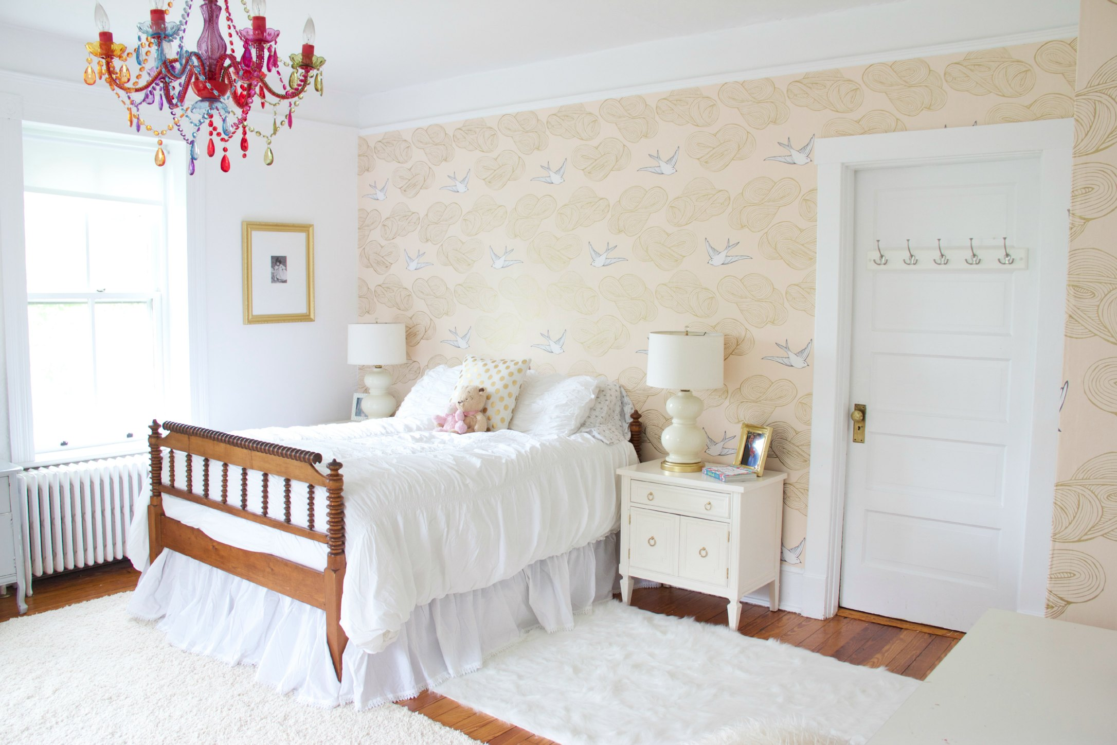 One Room Challenge Phoebe S Gold White And Blush