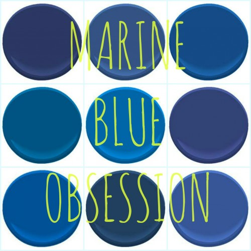 "BENJAMIN MOORE ""MARINE BLUES"" : ADMIRAL BLUE, BRILLIANT BLUE, BLUEBERRY HILL, CALIFORNIA BLUE, DARK ROYAL BLUE, EVENING BLUE, STARRY NIGHT BLUE, SYMPHONY BLUE AND TWILIGHT BLUE"