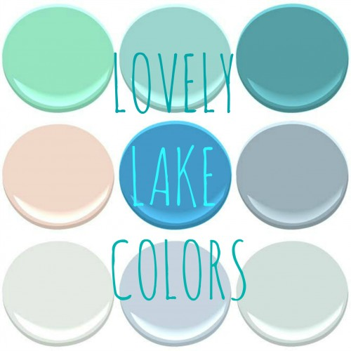 "BENJMAIN MOORE ""LAKE""COLORS - GREENWOOD LAKE, LAKE VICTORIA, BLUE LAKE, EAST LAKE ROSE, LAKE TAHOE,  GLACIER LAKE, GRAY LAKE, LAKE PLACID, AND WINTER LAKE"