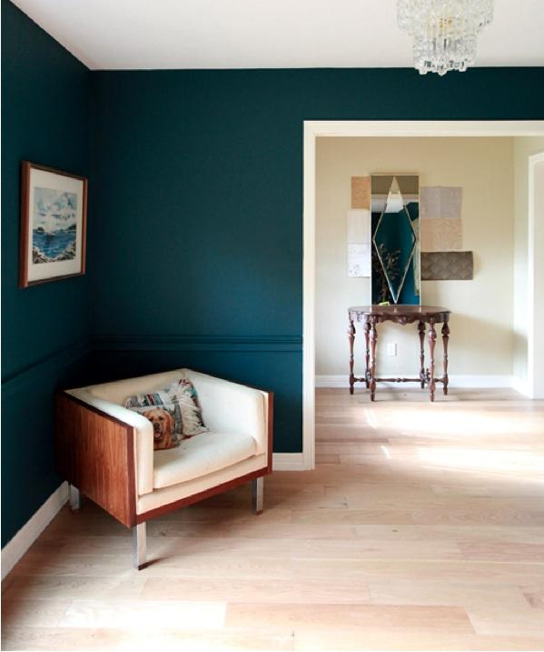 Color Trend Dark Greens on indigo accent chair
