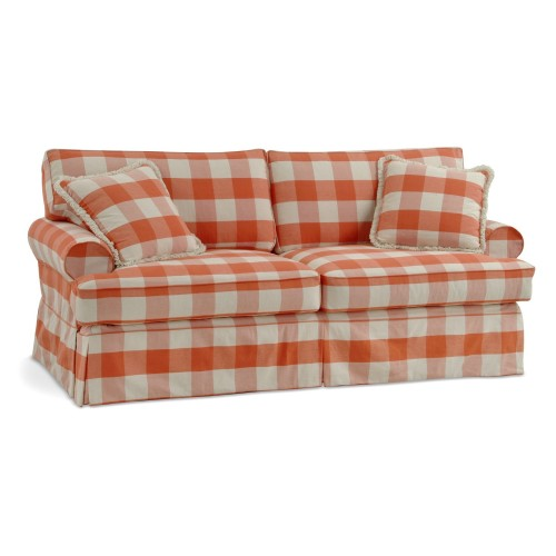 EMMA TWO SEAT SOFA SKIRTED AND SLIPCOVERED FOUR SEASONS FURNITURE