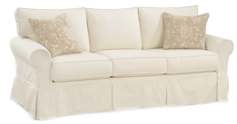 FOUR SEASONS FURNITURE DOES AN EXCELLENT SLIPCOVER...HERE IS THE ALEXANDRIA SOFA WITH 3 CUSHIONS...A SOCK ARM AND SKIRTED!