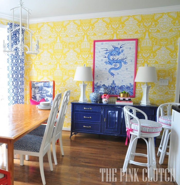 THE PINK CLUTCH COLORFUL KITCHEN MAKEOVER