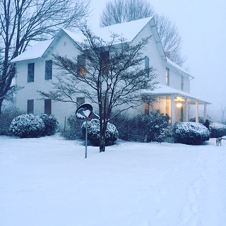 MY OLD COUNTRY HOUSE IN THE SNOW