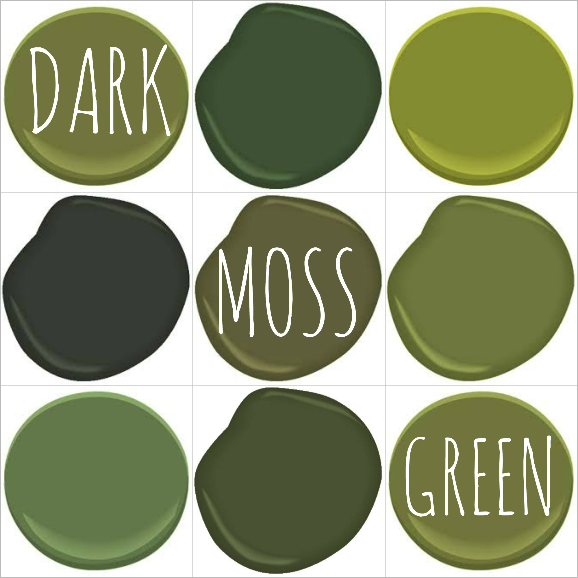 Color on trend deep mossy olive green Benjamin moore country green