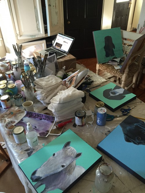 HOLIDAY TIME IN MY STUDIO