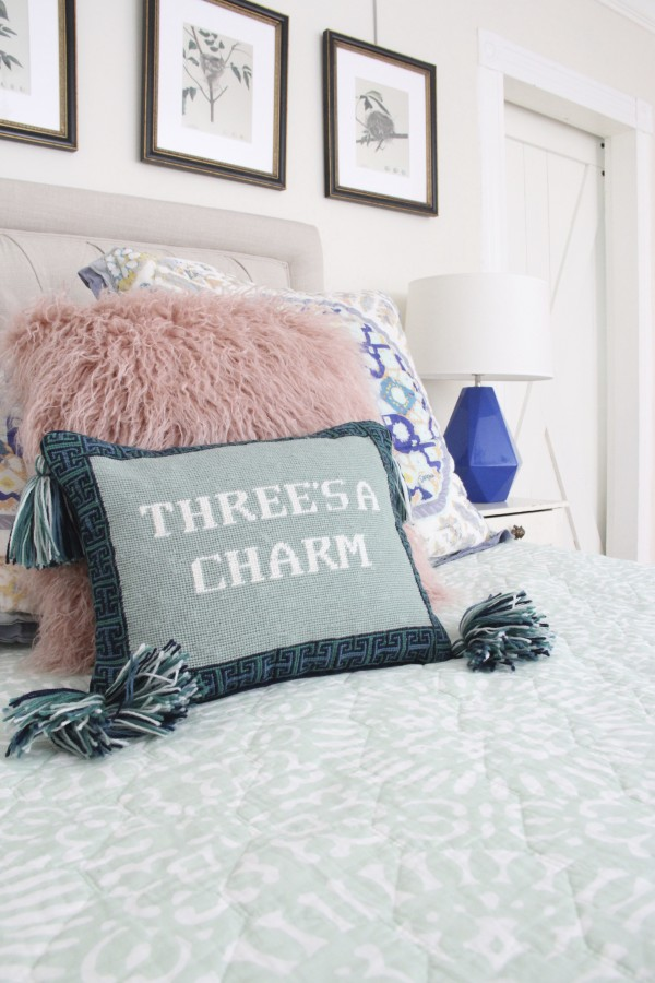 "TORY BURCH ""THREES A CHARM"" PILLOW"