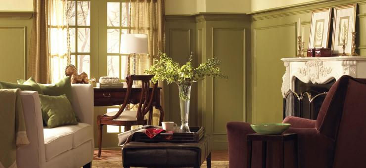 The colors of fall moss maroon and stone Benjamin moore country green