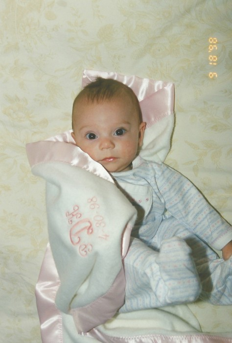 """PHOEBE AND HER MONOGRAMMED BLANKIE - """"FRIEND BLANKIE THE FIRST."""