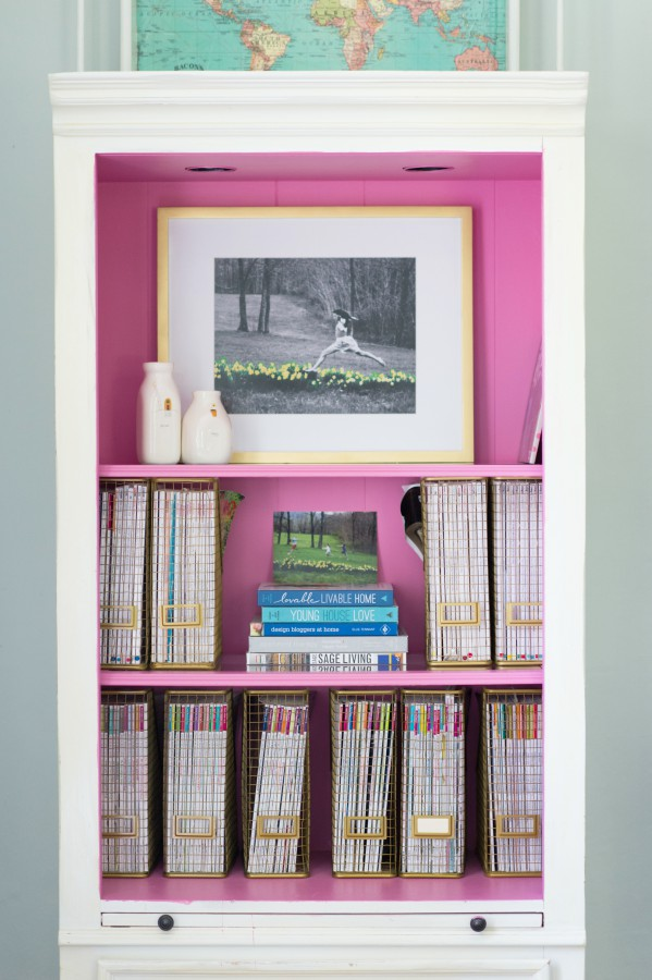 THE PINK CABINET - INTERIOR BENJAMIN MOORE PARADISE PINK