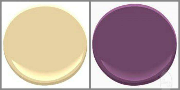 BENJAMIN MOORE DESERT TAN AND PASSION PLUM