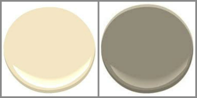 BENJAMIN MOORE HEMPLEWHITE IVORY AND ASHLEY GRAY