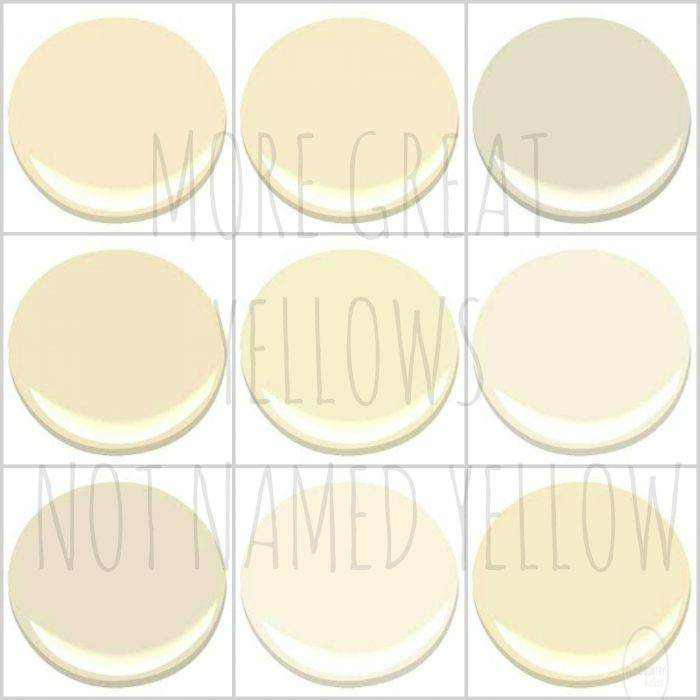 BENJAMIN MOORE - ANTIQUE LACE, CORINTHIAN WHITE, CREAMY WHITE, HONEY HARBOR, MAN ON THE MOON, MILKYWAY, PALACE WHITE, SUGAR COOKIE AND WINDHAM CREAM