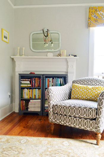 My Bedroom Chair upholstered in Dwell Studio in BRINDLE