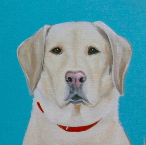 """JAKE"" 12"" X 12"" CUSTOM PET PORTRAIT"