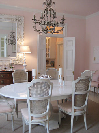 Katie Ukrops Dining room- PINK CLOUD