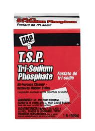 tri sodium phosphate...make sure to war protective gear when using this product.