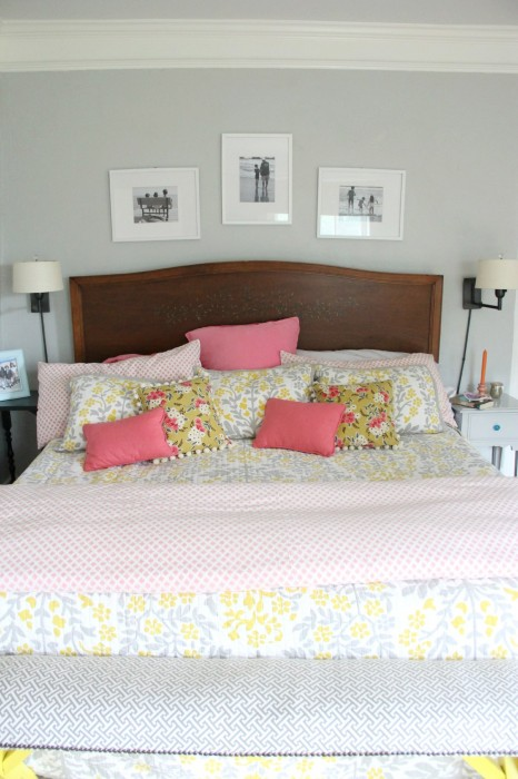 YELLOW AND GRAY IN OUR MASTER BEDROOM