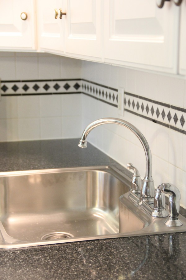 Glacier Bay Top Mount Stainless Sink with Moen Faucet